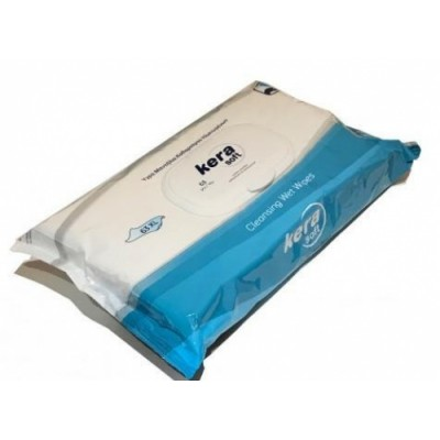 Kera μαντήλια καθαρισμού ειδικά για ηλικιωμένους 63 τμχ με καπακι -XL