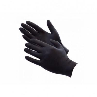GMT Προστατευτκά Γάντια Μιας Χρήσης Χωρίς Πούδρα Μαύρα Μέγεθος SMALL 100Τμχ