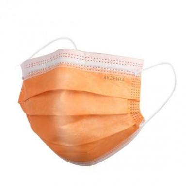 Μάσκες Χειρουργικές 3ply με Λάστιχο Χρώμα Πορτοκαλί