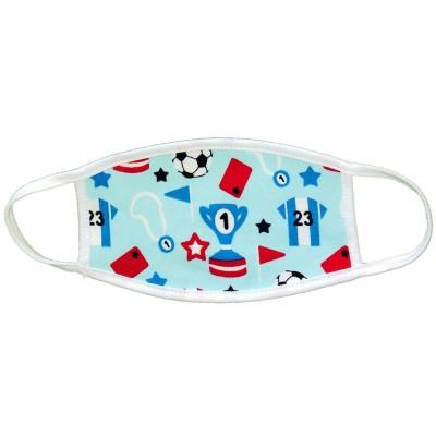 Υφασμάτινη Μάσκα Παιδική Εως 6 Χρονών - Ποδόσφαιρο γαλάζια
