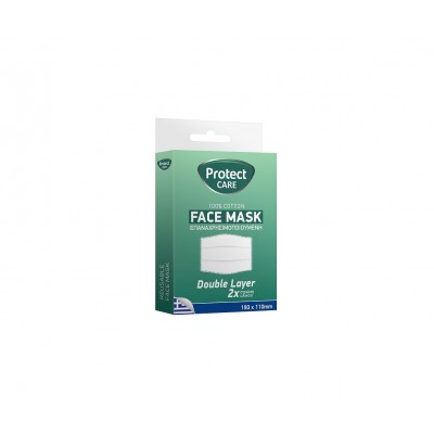 Protect Face Mask Προστατευτική Μάσκα Υφασμάτινη Πολλαπλών Χρήσεων Πλενόμενη - 110 Χ 110 mm