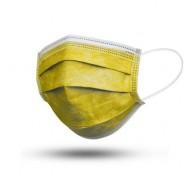 Μάσκες Χειρουργικές 3ply με Λάστιχο Χρώμα Κίτρινο
