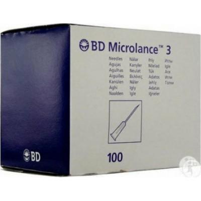 Βελόνες BD Microlance 3 Υποδερμικές μιας χρήσης 21G x 11/2 Nr 2 0.8x40mm 100τμχ