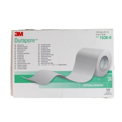 Tαινίες στερέωσης Μεταξωτή Durapore 2.5cm x 9.1m - 1τμχ
