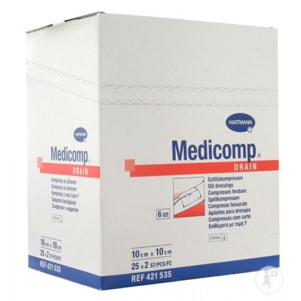 Επιθέματα Medicop Drain Με Τομή Σε Σχήμα Tραχειοστομίας